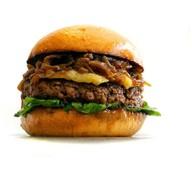 Бургер с грибами Фото