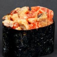 Гункан запеченный с лососем Фото