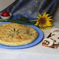 Пирог с картофелем, грибами и сыром Фото