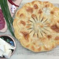 Пирог с мясом, грибами и сыром Фото