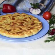 Пирог с мясом и сыром брынза Фото