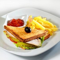 Сендвич с курицей Фото