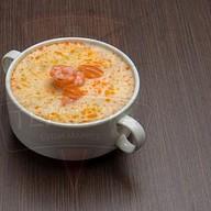 Крем-суп с лососем и креветками Фото