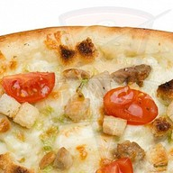 Цезарь лосось пицца Фото