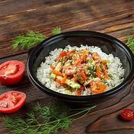 Тай лунг с морепродуктами и овощами Фото