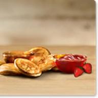 Оладьи с клубничным джемом ( Фото