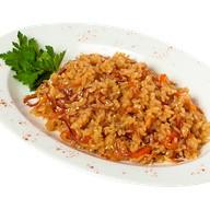 Рис с овощами в соевом соусе Фото