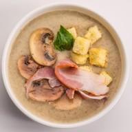 Грибной суп-пюре с грудинкой Фото