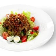 Теплый салат с печенью Фото