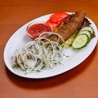 Люля-кебаб из баранины с соусом с Фото