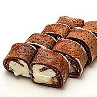 Шоколадный ролл с бананом Фото