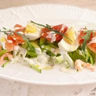 Сицилиана Фреско с лососем и креветками Фото