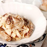 Тальятелли с белыми грибами Фото