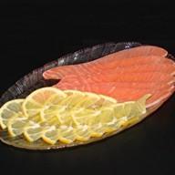 Малосоленая семга с лимоном Фото