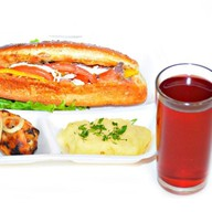 Комплекс ланч с салатом и голенью 1 Фото