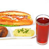 Комплекс ланч с салатом и котлетой 1 Фото