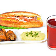 Комплекс ланч с салатом и шампиньонами 1 Фото
