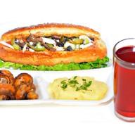 Комплекс ланч с салатом и шампиньонами 2 Фото