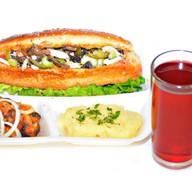 Комплекс ланч с салатом и голенью 2 Фото