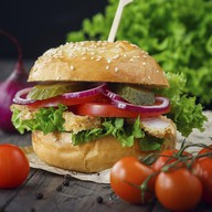 Бургер с курицей Фото