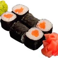 Роллы с копчёным лососем Фото