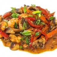 Тигровые креветки с овощами Фото