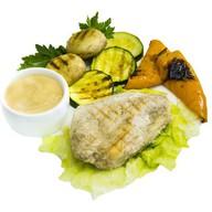 Курица на гриле с овощами Фото