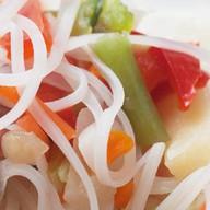 Рисовая лапша с овощами Фото