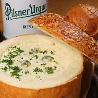 Сырный в белом хлеб Фото
