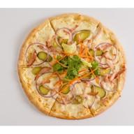 Пицца с копченой курицей Фото