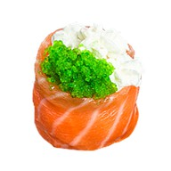 Суши делюкс зеленая тобика Фото