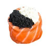 Суши делюкс черная тобика Фото