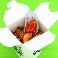 Стеклянная лапша с морепродуктами Фото