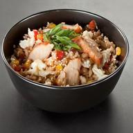 Дикий рис с курицей Фото