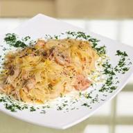 Спагетти с морепродуктами Фото