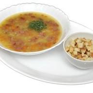Суп гороховый с копченостями и ос Фото