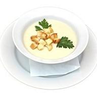 Суп-пюре сырный с сухариками Фото