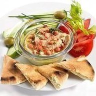 Хумус с кедровыми орешками Фото