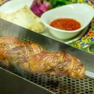 Шашлык из свиной вырезки с беконом Фото
