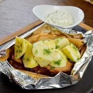 Свинина горячего копчения с картофелем Фото