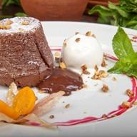 Кекс горячий шоколад Фото