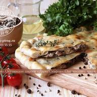 Пирог с курой, грибами и сыром Фото