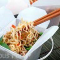 WOK лапша Яичная с овощами Фото