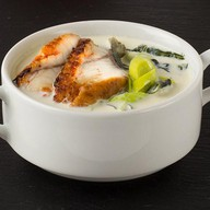 Сливочный суп с угрем Фото