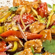 Курица с овощами тонкацу Фото
