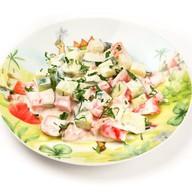 Салатик Овощная грядка со сметаной Фото