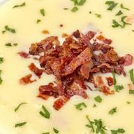 Картофельный крем-суп с Моцареллой Фото