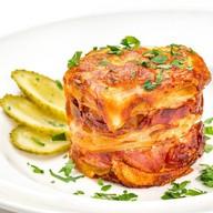 Картофельный гратен с беконом Фото