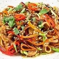Пшеничная wok лапша Фото