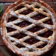 Пирог с малиновым джемом Фото